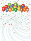 Partei steigt Sammlung im Ballon auf Stockbilder