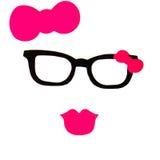 Partei stellte - Gläser, Hüte, Lippen, Schnurrbärte, Masken - für Design ein, Lizenzfreies Stockbild