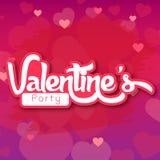 Partei-Vektor-Bild Valentine Day Purples BG Stockfotos