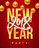 Parteieinladung 2018 des neuen Jahres lizenzfreie abbildung