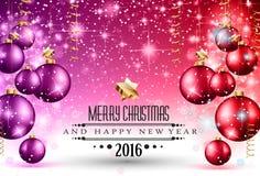 Parteiflieger des Weihnachten-2016 und guten Rutsch ins Neue Jahr- Stockfotografie