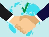 partenariat Accord de filiale Poignée de main businessmen La conclusion du contrat illustration libre de droits