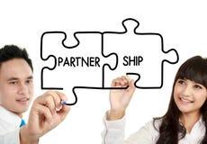 Partenariat d'affaires d'homme et de femme photographie stock