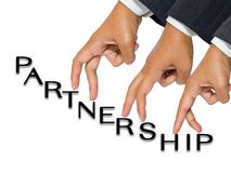 Partenariat de doigt images libres de droits