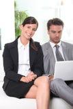 Partenariat dynamique d'affaires image libre de droits