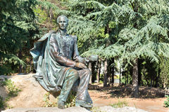 PARTENIT, CRIMEA, RUSSIA - SEPTEMBER 16.2014: Monument to Mikhail Lermontov in the Park Stock Photo