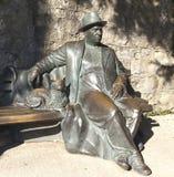 PARTENIT CRIMEA, WRZESIEŃ, - 7, 2016: Fotografia rzeźby Odpoczynkowy krymchanin w parkowym raju sanatorium Obraz Royalty Free