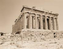 Partenon do Sepia fotos de stock