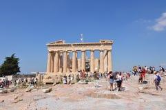 Partenon på akropolen av Aten Historia arkitektur, lopp, kryssar omkring royaltyfri bild
