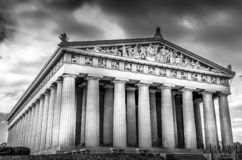 Partenon preto e branco em Nashville imagem de stock royalty free