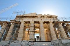 Partenon sob a renovação em Atenas Foto de Stock