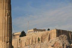 PARTENONE - ACROPOLI - ATENE - vista dalla città Fotografie Stock Libere da Diritti