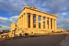 Partenone sull'acropoli, Atene, Grecia nessuno fotografia stock