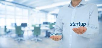 Partenza contro corporativo Immagine Stock Libera da Diritti