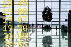 Partenza Corridoio dell'aeroporto Fotografia Stock Libera da Diritti
