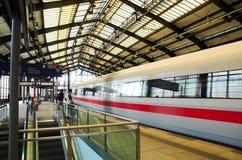 Partenza del treno Fotografia Stock