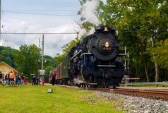 Partenza del treno a vapore Fotografia Stock Libera da Diritti