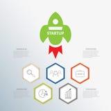 Partenza di infographics di affari Immagini Stock