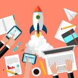 Partenza di Rocket Business Fotografia Stock Libera da Diritti