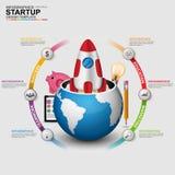 Partenza digitale astratta Infographic di affari 3D Immagini Stock Libere da Diritti