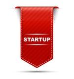 Partenza rossa di progettazione dell'insegna illustrazione di stock
