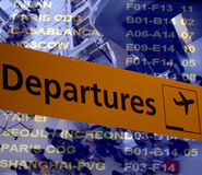 Partenze dell'aeroporto Immagine Stock Libera da Diritti