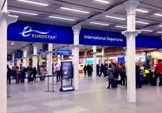 Partenze dell'internazionale di Eurostar Immagini Stock Libere da Diritti