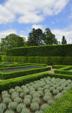 Parterre garden. Section of the  parterre garden showing surrounding hedges, Kew, London Royalty Free Stock Photography