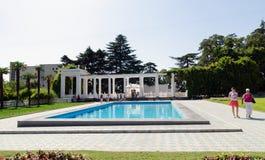 Parterre Nikitsky botanical garden. Crimea, Yalta. Royalty Free Stock Images
