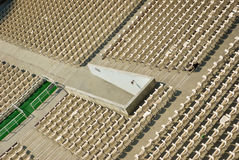 Parterre seen from above. With rows of chairs Royalty Free Stock Image
