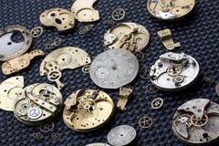 Partes 16 del reloj Imágenes de archivo libres de regalías