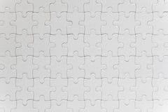 Partes brancas vazias do enigma de serra de vaivém terminadas Fotografia de Stock Royalty Free