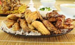 Partes chinesas da galinha imagens de stock