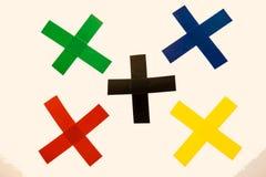 Partes coloridas da fita Foto de Stock