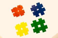Partes coloridas da fita Fotos de Stock