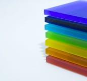 Partes coloridas de plexiglás Imagens de Stock