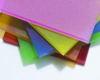 Partes coloridas de plexiglás Fotos de Stock Royalty Free