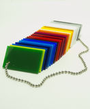 Partes coloridas de plexiglás Imagem de Stock