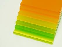 Partes coloridas de plexiglás Fotografia de Stock Royalty Free