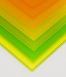 Partes coloridas de plexiglás Imagens de Stock Royalty Free