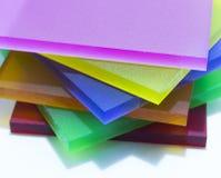 Partes coloridas de plexiglás Fotos de Stock