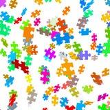 Partes coloridas de queda do enigma - serra de vaivém ilustração stock