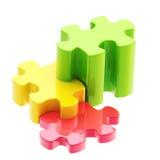 Partes coloridas do enigma como uma escadaria ao sucesso Imagens de Stock