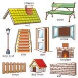 Partes da casa ilustração stock