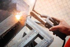 Partes da soldadura de metal Imagem de Stock