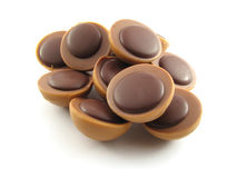 Partes de bolinhos do chocolate imagem de stock