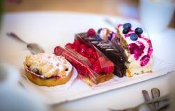 Partes de bolos diferentes Imagens de Stock Royalty Free