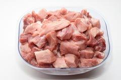 Partes de carne Fotografia de Stock Royalty Free