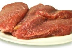 Partes de carne crua Imagens de Stock Royalty Free