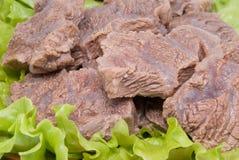 Partes de carne fervida Imagens de Stock